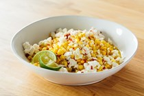 Corn with feta & lime