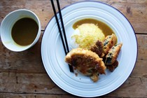 Courgette and cauliflower katsu curry