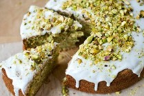 Courgette, lemon and pistachio cake
