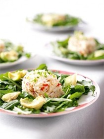 Crab and avocado salad with Japanese dressing