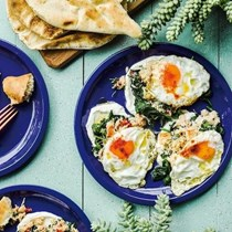 Crab and spinach with 
