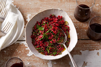 Cranberry chimichurri