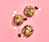 Cranberry-oat energy balls