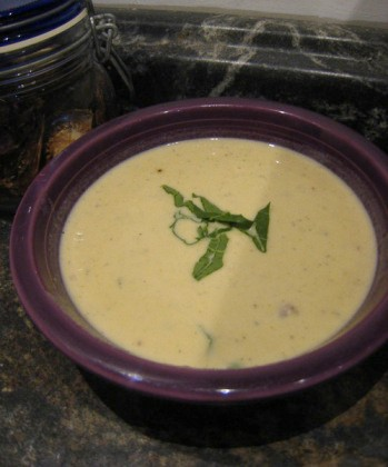 Creamy roast turnip and potato soup