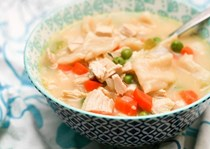 Creamy turkey dumpling soup