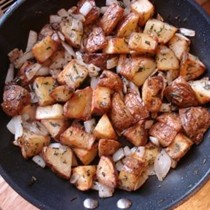 Crisp panfried potatoes (home fries)