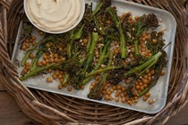 "Crispy broccolini chickpeas with cashew ""ricotta"""