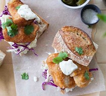 Crispy fish po boys