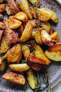 Crispy potatoes with rosemary and sumac