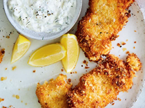 Crispy walleye with pickled fennel & dill tartar sauce