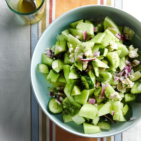 Cucumber-honeydew salad with feta recipe | Eat Your Books