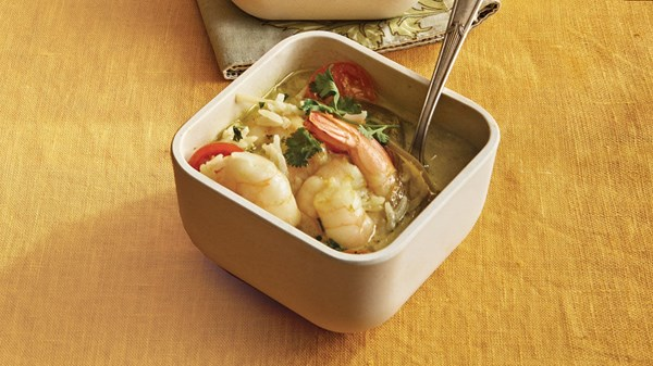 Curried shrimp and coconut soup