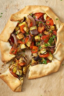 Curried veggie galette