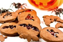 Cute chocolate Halloween cookies