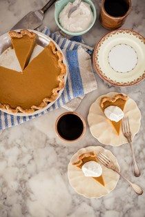 Dad's perfect gluten-free, dairy-free, refined sugar-free sweet potato pie