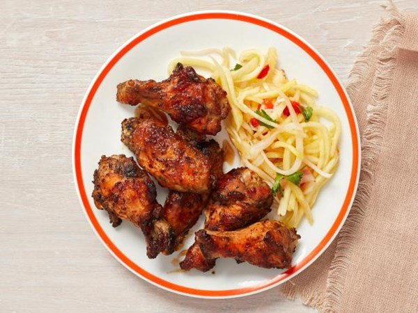 Dale Taldes Hickory Smoked Jerk Chicken Wings With Pickled
