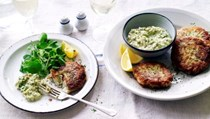 Danish fish frikadeller with remoulade