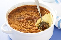 Date and golden syrup baked custard