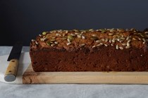 Date, apricot and walnut loaf cake