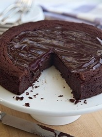 Decadent (gluten-free!) chocolate cake