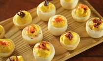 Deviled smoked eggs