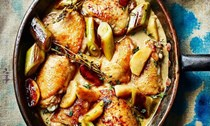 Diana Henry's chicken with leeks, apples and cider