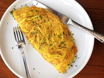 Diner-style ham and cheese omelet