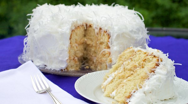 Dinner-on-the-grounds coconut cake