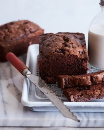 Double chocolate chip zucchini bread
