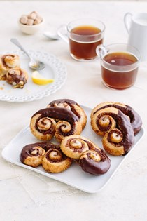 Double chocolate palmiers