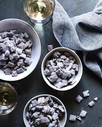 Double dark chocolate muddy buddies
