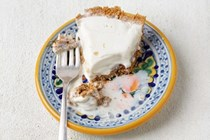 Dulce de leche ice cream pie with Marcona almonds