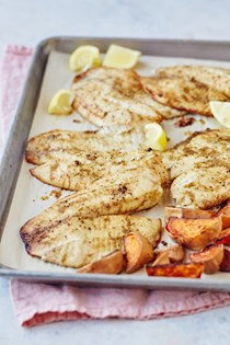 Easy baked tilapia with cumin and lime