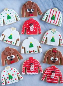 Easy ugly Christmas sweater cookies