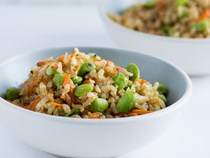 Edamame fried brown rice [Todd Porter and Diane Cu]
