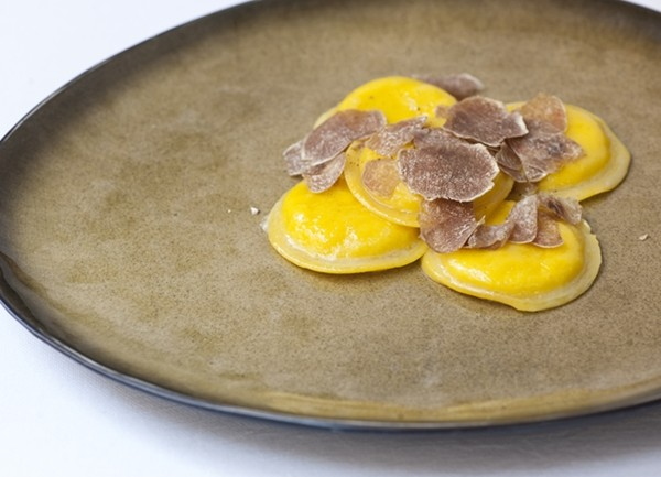 Egg ravioli with white truffle