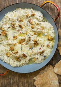 Eggplant and yogurt spread with saffron