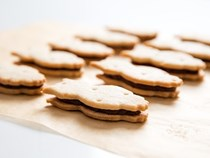 E.L. Fudge-style chocolate and vanilla sandwich cookies