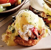 Etta's Dungeness crab eggs Bennies with lemon dill Hollandaise