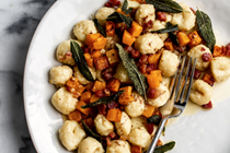 Fall gnocchi with butternut squash, brown butter, pancetta & sage