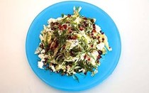 Fennel and feta with pomegranate seeds and sumac