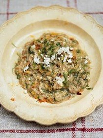 Fennel risotto with ricotta and dried chili (Risotto ai finocchi con ricotta e peperoncino)