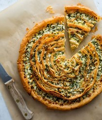 Feta-and-herb phyllo tart