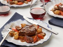 Filet of beef bourguignon