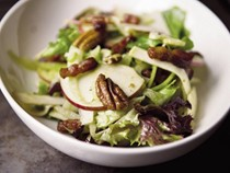Food52's not-too-virtuous salad with caramelized apple vinaigrette (Cook the Book)