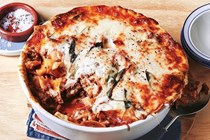 Freeform pork and fennel lasagne with bacon Bechamel