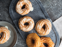 French crullers with citrus glaze