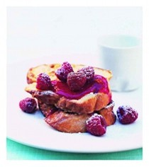 French toast with fresh berry sauce