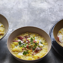 Fresh-off-the-cob corn chowder