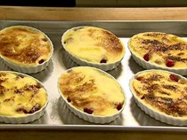 Fresh raspberry gratins